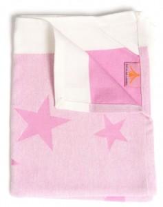 handduk stjarna pink